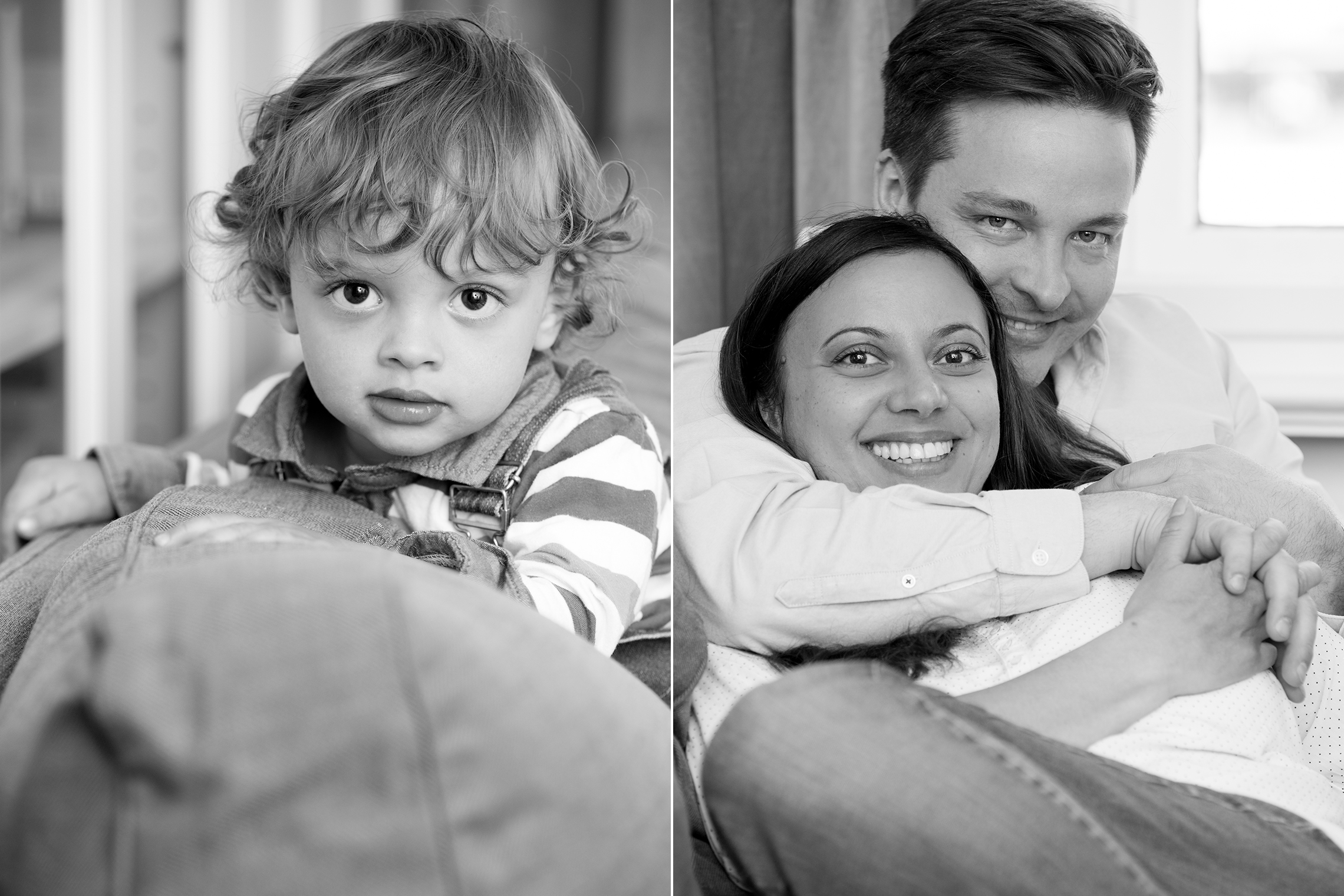 Portraitfotografie Familie schwarz-weiß Homestory Familienfotos Portraitfotografin Caro Hoene Photography Berlin